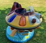 Flying Saucer / Ufo / Spaceship - Vintage Atomic Age Coin Operated Kiddie Ride