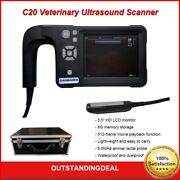 C20 Portable Veterinary Ultrasound Scanner Waterproof With 6.5mhz Rectal Probe