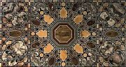 30 X 60 Inches Marble Table Top Marquetry Art Decent Look Coffee Table For Home