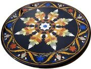 36 Inches Marble Dining Table Top Marquetry Art Coffee Table With Luxurious Look