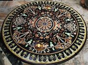 48 Inches Marble Dining Table Top Marquetry Art Center Table From Cottage Crafts