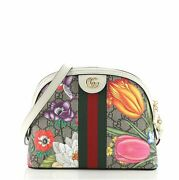Ophidia Dome Shoulder Bag Printed Gg Coated Canvas Small
