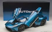 Ford Gt 2017 Liquid Blue In 112 Scale By Autoart