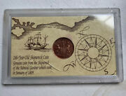 Vintage 1808 Shipwreck Pirate Boat Coin From Admiral Gardner Rare And Nice