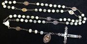 Early 20th Cent. V. Rare Rosary Of Our Lady Of 7 Sorrows M.o.p And Sterling Silver