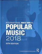 International Who's Who In Popular Music 2018 9781857439250   Brand New