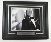 Willie Nelson Signed Autographed Framed And Matted Photo Jsa