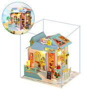 Wood Dollhouse With Furniture Kit Cottage 3d Puzzles For Girls Gift Toy A