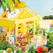 Wood Dollhouse With Furniture Set Cottage Dream House 3d Puzzles Gift Toy B