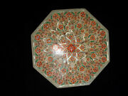 White Marble Collectible Jewelry Box Rare Carnelian Floral Fine Inlay Art Decors