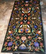 30 X 60 Inches Marble Coffee Table Top Marquetry Art Center Table For Home Decor