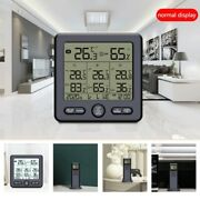 Lcd Thermometer Hygrometer Digital Home Outdoor Temperature Humidity W/3 Sensor