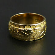 Edwardian 19 Ct Gold Antique Fancy Wedding Ring Size J Chester 1905 - 9.4 Grams