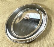 Christofle Serving Tray Presentation Platter Large Oval Meat Plate Silverware