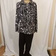 Chico's Weekends 2 Piece Set, Velour Jacket Pointe Pants Chicos 3
