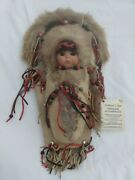 Rare Papoose Clay Doll In Cradleboard By Artist Little Sue
