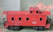 Lionel Type I Caboose 1947-1952 Southern Pacific Rd Sp 6257 - O-27