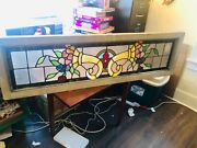 Antique Transom Construction Salvage Stain Stained Glass Trellis Window Wow