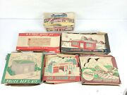 6x Plasticville Supermarket, Post Office, School , Freight And Gas Station, Police