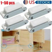 150pcs Magnetic Door Catches Cupboard Wardrobe Cabinet Latch Drawer Catch White