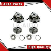Timken Front Rear 4 Of Wheel Bearing And Hub Assemblys For Ford Mercury