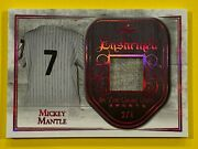 Mickey Mantle-2018 Leaf In The Game Used Sports Enshrined-jersey Relic-ser