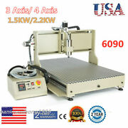 1.5kw/ 2.2kw Vfd 3/4axis 6090t Cnc Router Engraver Metal Milling Cutting Machine