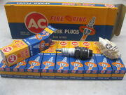 Nos 45s Ac Spark Plugs Fire Ring Box Of 10 Collector Item Made In England