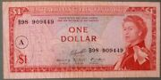 East Caribbean 1 Dollar Note P 13 H Letter A Back Type Iii Queen