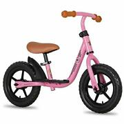 10/12 Kids Balance Bike With Footrest For Girls And Boys Ages 18 12 Inch Pink