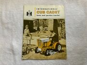 1961-63 International Cub Cadet Lawn And Garden Tractor Brochure Thick 16 Pages