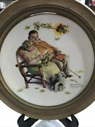 Norman Rockwell Gorham Fall Fondly We Do Remember Decorative Plate Wall Decor
