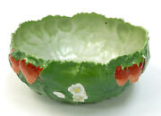 An Antique Early 20th C. German Royal Bayreuth Porcelain Strawberry Bowl