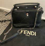 Preloved Fendi Black Leather Classic Bag Rrp6900 As New Conditions