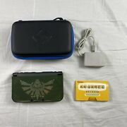 New Nintendo 3ds Xl With Zelda Cover, Case, Charger And Ar Cards