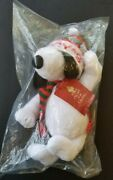 Vintage Snoopy Macy's Christmas Plush 20 Tall Nos With Tags Knit Hat And Scarf