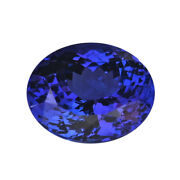 Loose Gemstone Aaaa Blue Tanzanite Oval Shape Faceted For Jewelry Making Ct 6.75