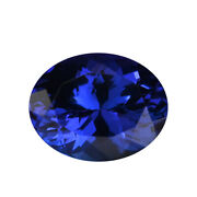 Loose Gemstone Aaaa Blue Tanzanite Oval Shape Faceted For Jewelry Making Ct 5.5