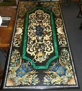 30 X 60 Inches Marble Coffee Table Top Marquetry Art Decent Look Center Table