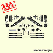 7 Radius Arm Sys W/ Coil Springs And Frontandrear Shocks For 14-17 Ram 2500 Fabtech