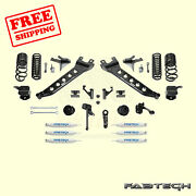 7 Radius Arm Sys W/coil Springs And Frontandrear Shocks For 14-17 Ram 2500 Fabtech
