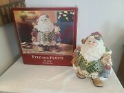 Fitz And Floyd St Nick Cookie Jar Santa Christmas Holiday Centerpiece With Box.