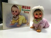 Doll Tin Toy Crawling Baby Me 790 Battery Operated New 1970s Vintage China 1