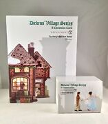 Dept 56 Lot Of 2 Fezziwig's Holiday Dance + A Dance With Belle D56 Dickens Vill