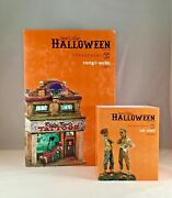 Dept 56 Lot Of 2 Lit Rusty's Needle + Ink Scare Snow V Halloween D56 Brand New