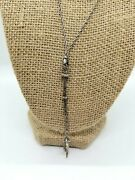 Jewish Torah Pointer Yad Sterling Silver Vtg Necklace And Sterling Silver Chain