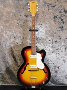Used 1960s Vox V 255 Typhoon Electric Guitar Hollow Ss Great Playing Condition