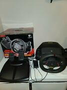 Logitech Momo Racing Force Feedback Pc Steering Wheel And Pedals Clean Works.