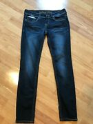 Antique Rivet Womenand039s Juniors Skinny Dark Jeans Studded Embroidered Size 29