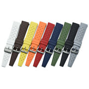 Fkm Rubber Tropic Style Strap W/ Quick Release Spring Bars - Premium Look And Feel